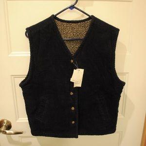 123. reversible corduroy x teddy vest